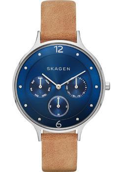 Швейцарские наручные  женские часы Skagen SKW2310. Коллекция Leather