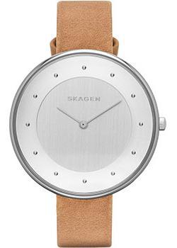 Швейцарские наручные  женские часы Skagen SKW2326. Коллекция Leather