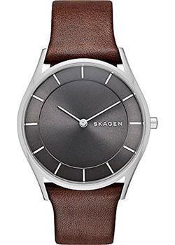 Швейцарские наручные  женские часы Skagen SKW2343. Коллекция Leather