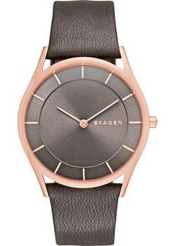 Швейцарские наручные  женские часы Skagen SKW2346. Коллекция Leather