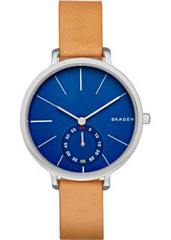 Швейцарские наручные  женские часы Skagen SKW2355. Коллекция Leather
