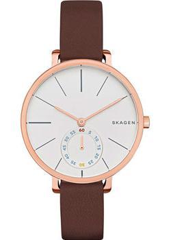 Швейцарские наручные  женские часы Skagen SKW2356. Коллекция Leather