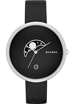 Швейцарские наручные  женские часы Skagen SKW2372. Коллекция Leather