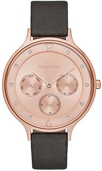 Швейцарские наручные  женские часы Skagen SKW2392. Коллекция Leather