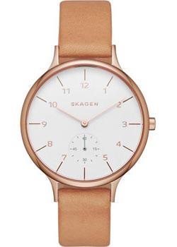 Швейцарские наручные  женские часы Skagen SKW2405. Коллекция Leather