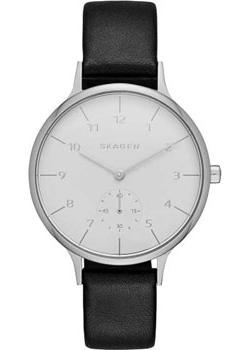 Швейцарские наручные  женские часы Skagen SKW2415. Коллекция Leather