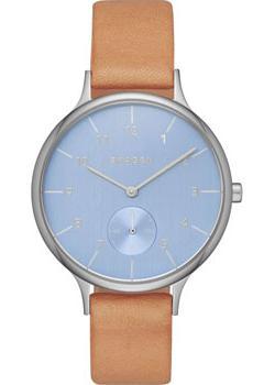 Швейцарские наручные  женские часы Skagen SKW2433. Коллекция Leather