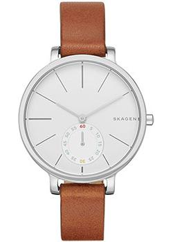 Швейцарские наручные  женские часы Skagen SKW2434. Коллекция Leather