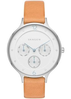 Швейцарские наручные  женские часы Skagen SKW2449. Коллекция Leather