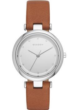 Швейцарские наручные  женские часы Skagen SKW2458. Коллекция Leather