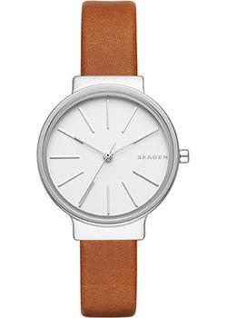 Швейцарские наручные  женские часы Skagen SKW2479. Коллекция Leather