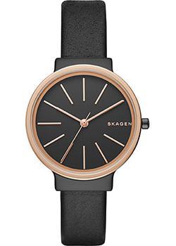 Швейцарские наручные  женские часы Skagen SKW2480. Коллекция Leather