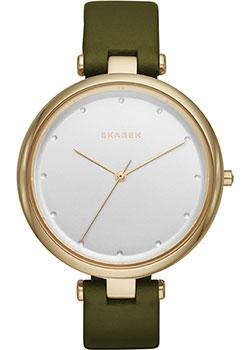 Швейцарские наручные  женские часы Skagen SKW2483. Коллекция Leather