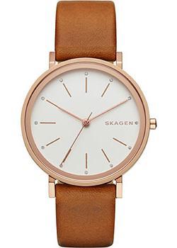 Швейцарские наручные  женские часы Skagen SKW2488. Коллекция Leather