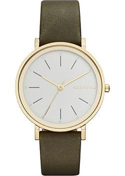 Швейцарские наручные  женские часы Skagen SKW2491. Коллекция Leather
