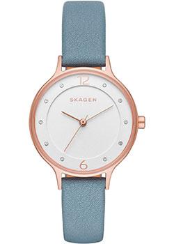 Швейцарские наручные  женские часы Skagen SKW2497. Коллекция Leather
