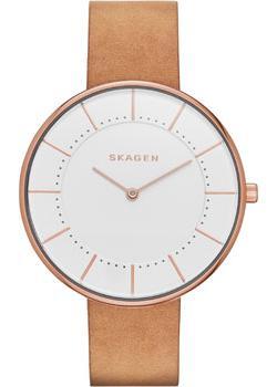 Швейцарские наручные женские часы Skagen SKW2558. Коллекция Leather фото