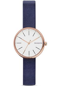 Швейцарские наручные  женские часы Skagen SKW2592. Коллекция Leather