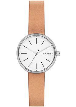 Швейцарские наручные  женские часы Skagen SKW2594. Коллекция Leather