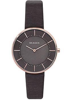 Швейцарские наручные  женские часы Skagen SKW2613. Коллекция Leather