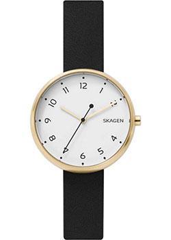 Швейцарские наручные  женские часы Skagen SKW2626. Коллекция Leather