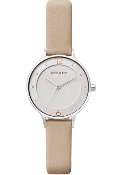 Швейцарские наручные  женские часы Skagen SKW2648. Коллекция Leather
