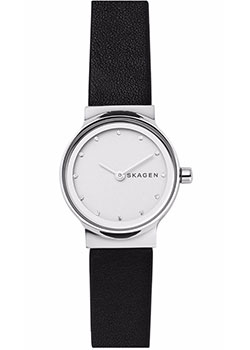 Швейцарские наручные  женские часы Skagen SKW2668. Коллекция Leather