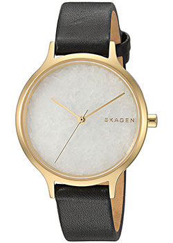 Швейцарские наручные  женские часы Skagen SKW2671. Коллекция Leather.