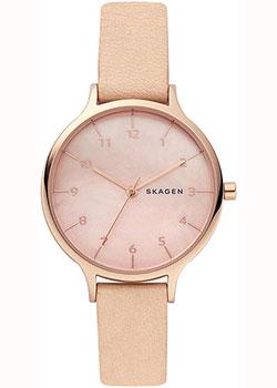 Швейцарские наручные  женские часы Skagen SKW2704. Коллекция Leather.