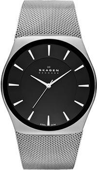 Швейцарские наручные  мужские часы Skagen SKW6019. Коллекция Mesh - Skagen - SkagenSkagen KLASSIK. Кварцевый японский механизм. Минеральное стекло. Корпус и браслет выполнены из нержавеющей стали. Браслет-mesh (миланское плетение). Размер корпуса 45 мм х 42 мм.<br>