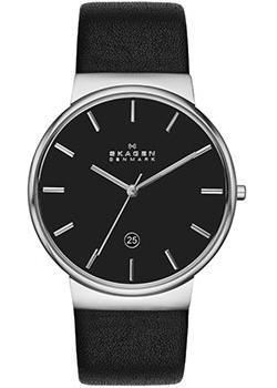 Швейцарские наручные  мужские часы Skagen SKW6104. Коллекция Leather