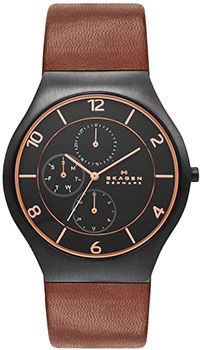 Швейцарские наручные  мужские часы Skagen SKW6117. Коллекция Leather от Bestwatch.ru