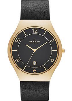 Швейцарские наручные  мужские часы Skagen SKW6145. Коллекци Leather