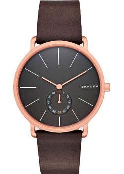 Швейцарские наручные  мужские часы Skagen SKW6213. Коллекция Leather