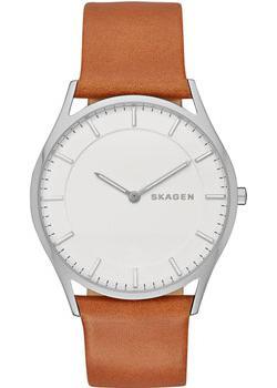 Швейцарские наручные  мужские часы Skagen SKW6219. Коллекция Leather.