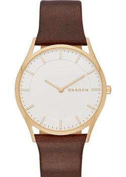 Швейцарские наручные  мужские часы Skagen SKW6225. Коллекция Leather.