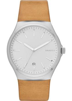 Швейцарские наручные  мужские часы Skagen SKW6261. Коллекция Leather.