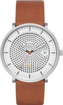 Швейцарские наручные  мужские часы Skagen SKW6277. Коллекция Leather.