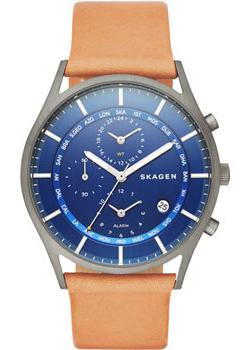 Швейцарские наручные  мужские часы Skagen SKW6285. Коллекция Leather