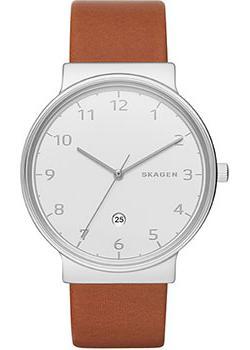 Швейцарские наручные мужские часы Skagen SKW6292. Коллекция Leather фото