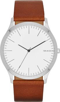 Швейцарские наручные  мужские часы Skagen SKW6331. Коллекция Leather.