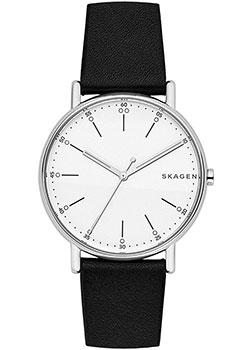 Швейцарские наручные  мужские часы Skagen SKW6353. Коллекция Leather.