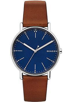 Швейцарские наручные  мужские часы Skagen SKW6355. Коллекци Leather