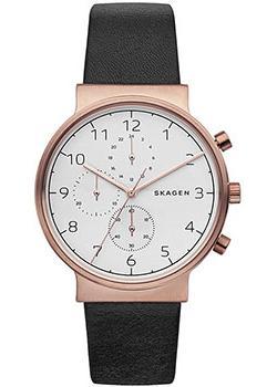 Швейцарские наручные  мужские часы Skagen SKW6371. Коллекция Leather.