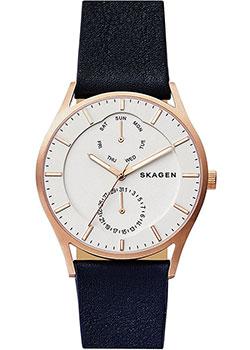 Швейцарские наручные  мужские часы Skagen SKW6372. Коллекция Leather.