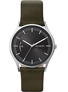 Швейцарские наручные  мужские часы Skagen SKW6394. Коллекция Leather.
