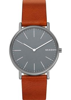 Швейцарские наручные  мужские часы Skagen SKW6429. Коллекция Leather.