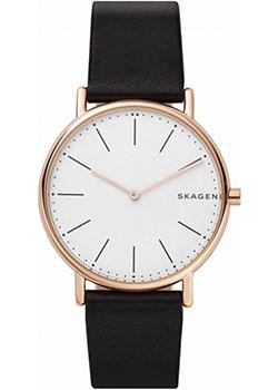 Швейцарские наручные  мужские часы Skagen SKW6430. Коллекция Leather.