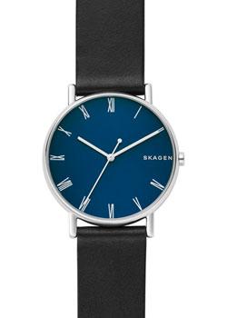 Швейцарские наручные  мужские часы Skagen SKW6434. Коллекция Leather.