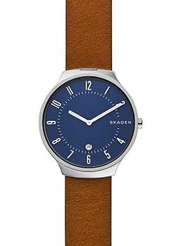 Купить Швейцарские наручные мужские часы Skagen SKW6457. Коллекция Leather